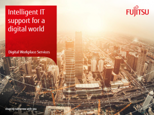 Vision document – Intelligent IT support for a digital world